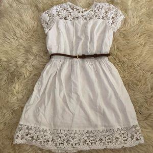 Forever 21 Girls Boho White Dress - 7/8